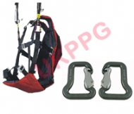 UKPPG Paramotor and Paraglider Wing Training Harness & Quality Carabiners - EOLE